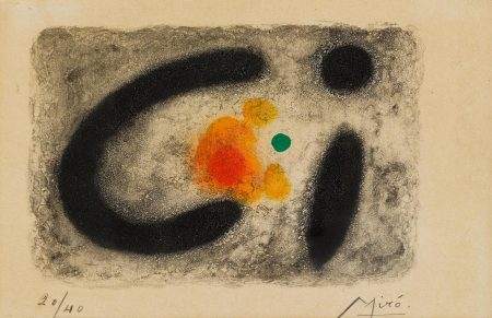 Joan Miro-Pl. 4, From Nous Avons (D. 250)-1959