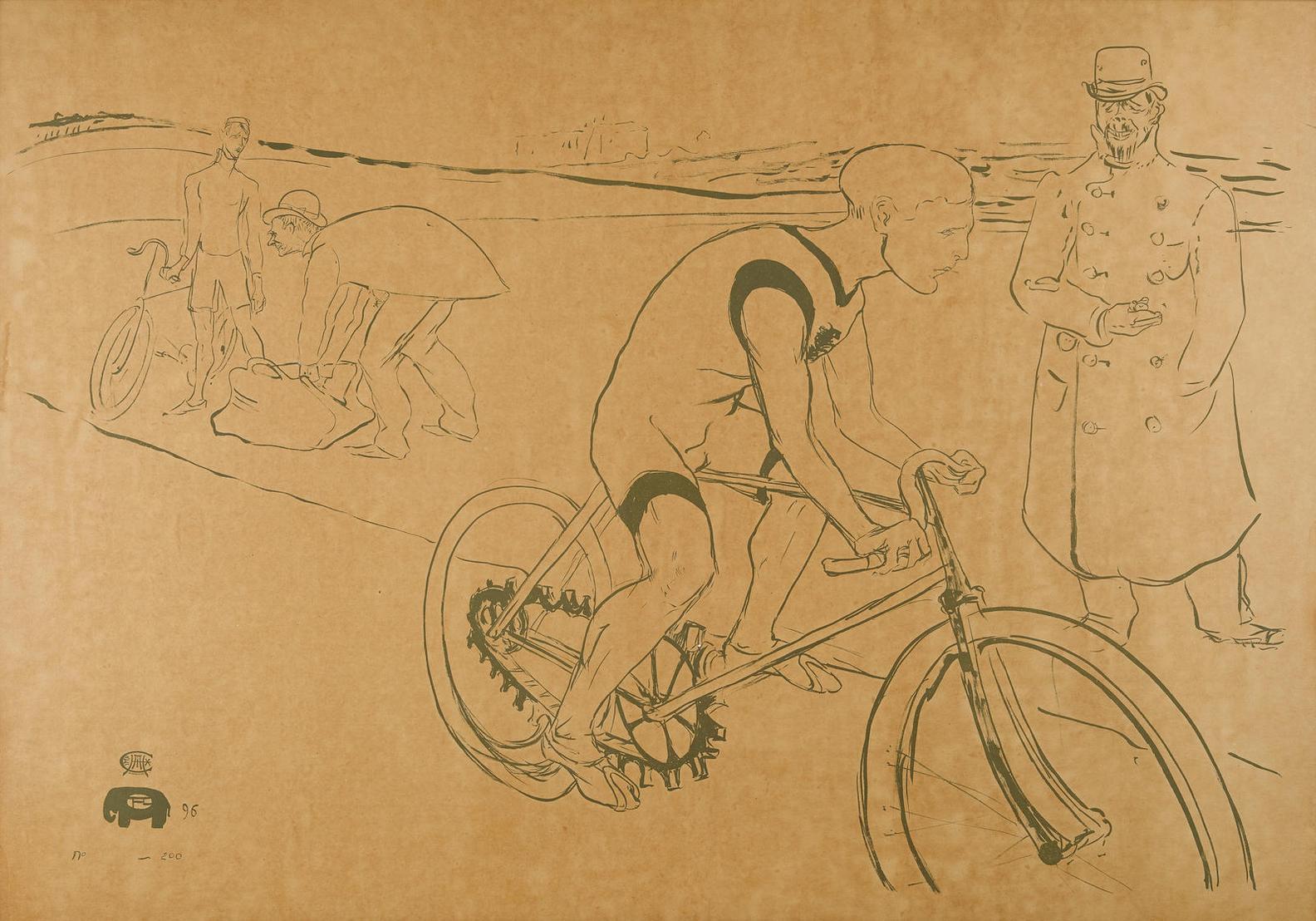 Henri de Toulouse-Lautrec-Cycle Michael (D.359; Ad. 188; W. P25)-1896