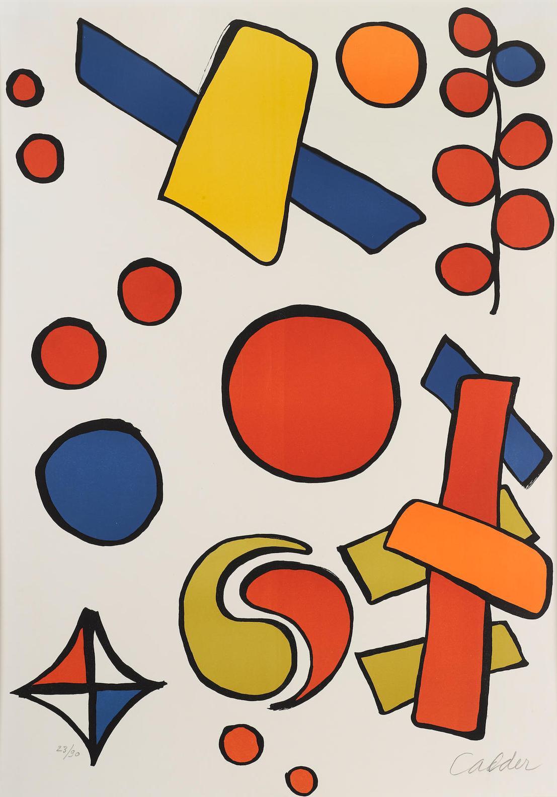 Alexander Calder-Alphabet Sur Tout-1968