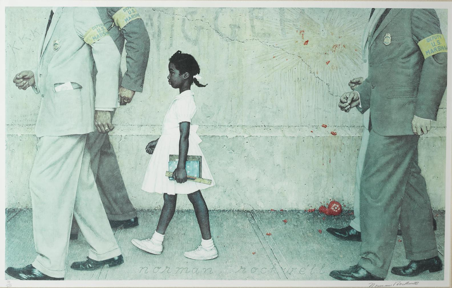 Norman Rockwell-The Problem We All Live With-1973