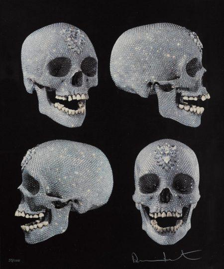 Damien Hirst-For The Love Of God (Four Skulls)-2007