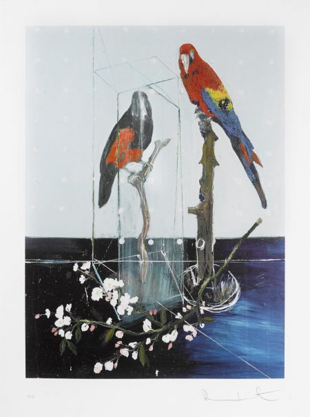 Damien Hirst-Two Birds With Blossom (Large)-2012