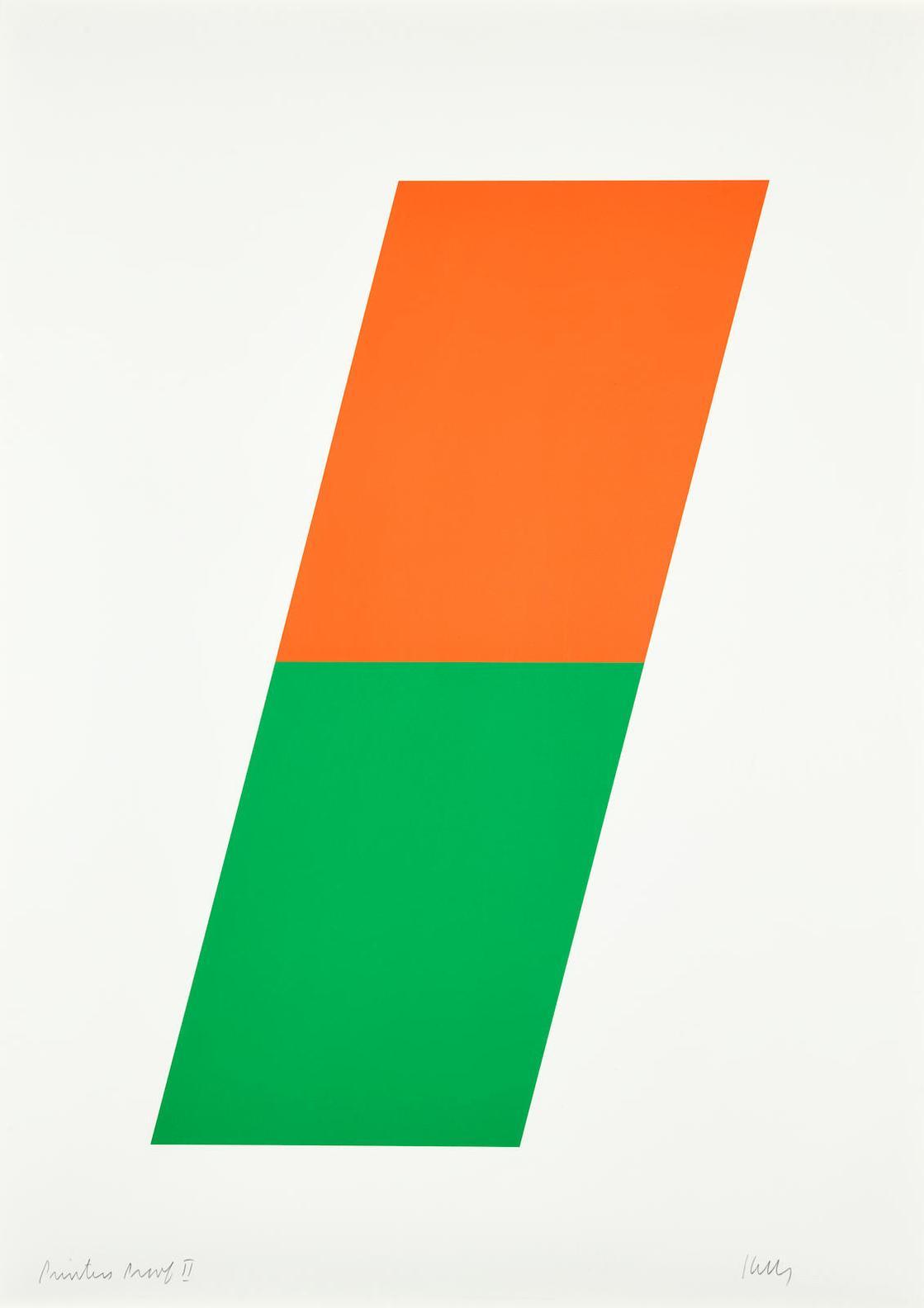 Ellsworth Kelly-Orange/Green (A. 64; G. 233)-1970