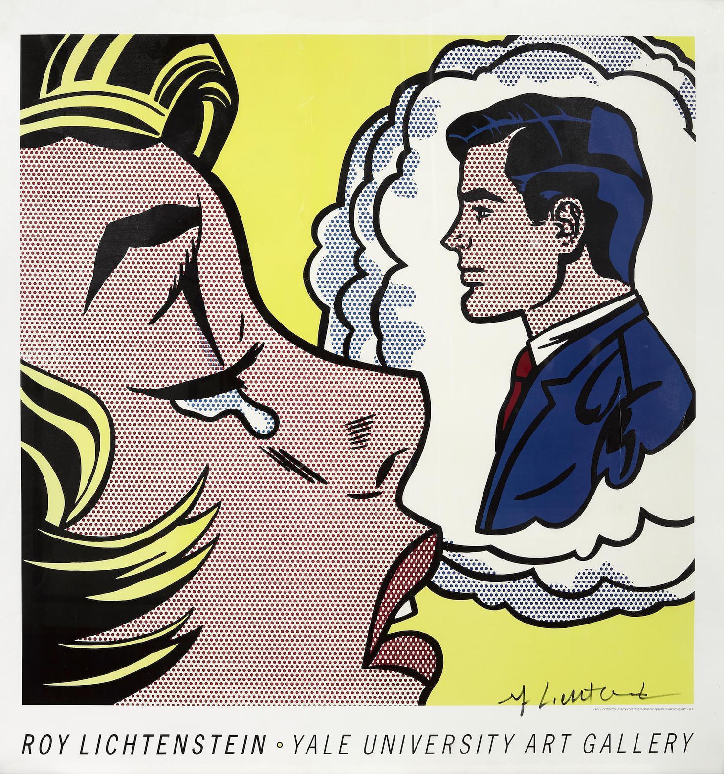After Roy Lichtenstein - Thinking Of Him (Yale University Art Museum)-1991