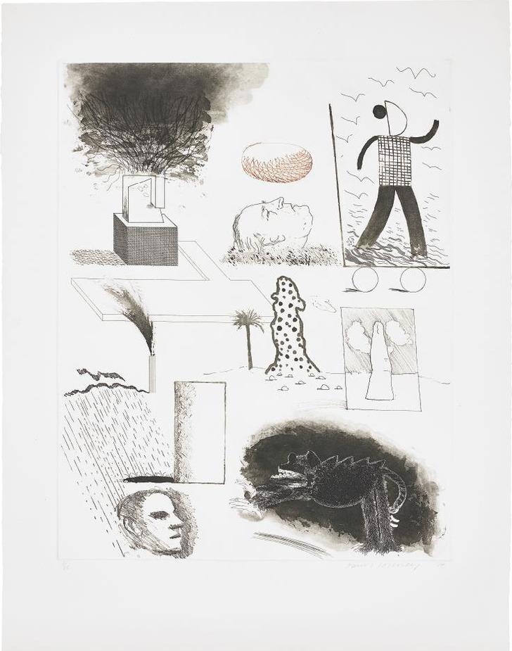 David Hockney-Showing Maurice The Sugar Lift-1974