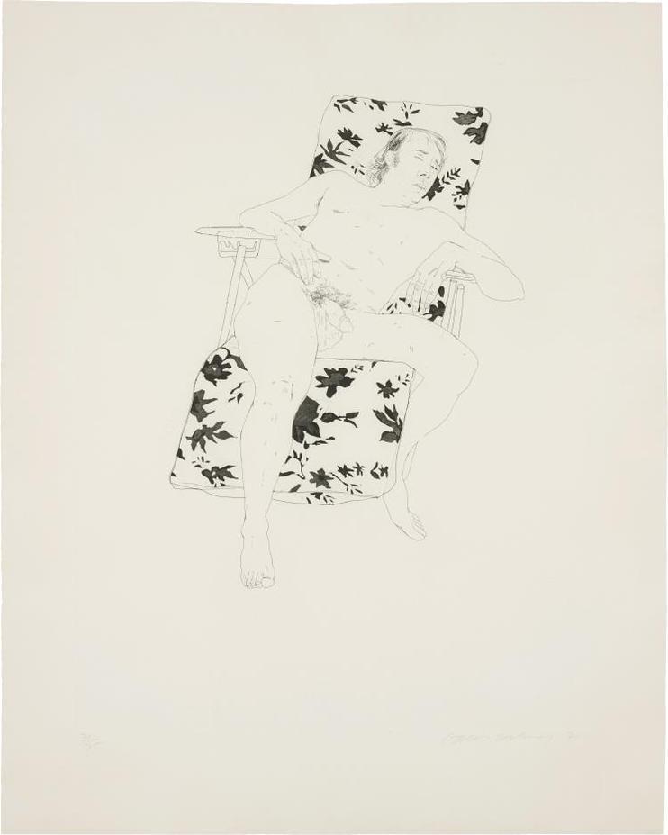 David Hockney-Mo Asleep-1971