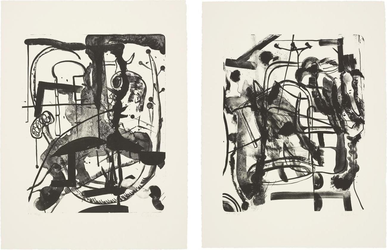 Albert Oehlen-Untitled; And Untitled-1998