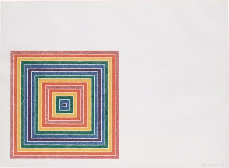 Frank Stella-Cipango, From Multicoloured Squares I Series-1972