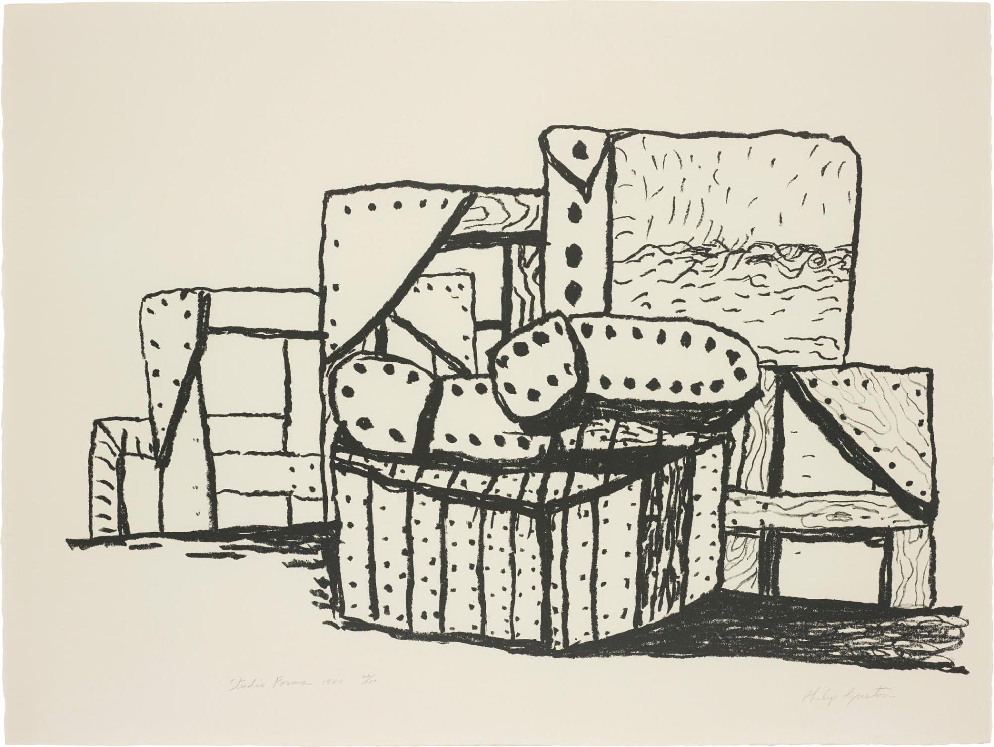 Philip Guston-Studio Forms-1980