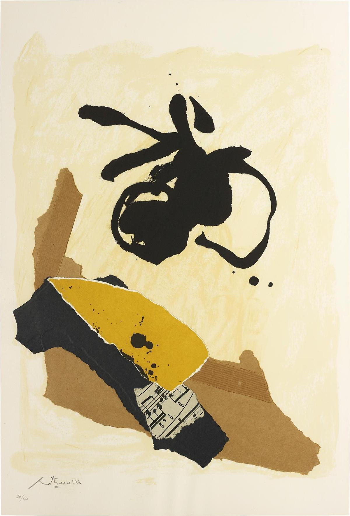 Robert Motherwell-Untitled, From 10 Years Of Galeria Joan Prats, 1976-1988-1986