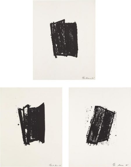 Richard Serra-Sketch #2; Sketch #3; And Sketch #5, From Sketches Series-1981