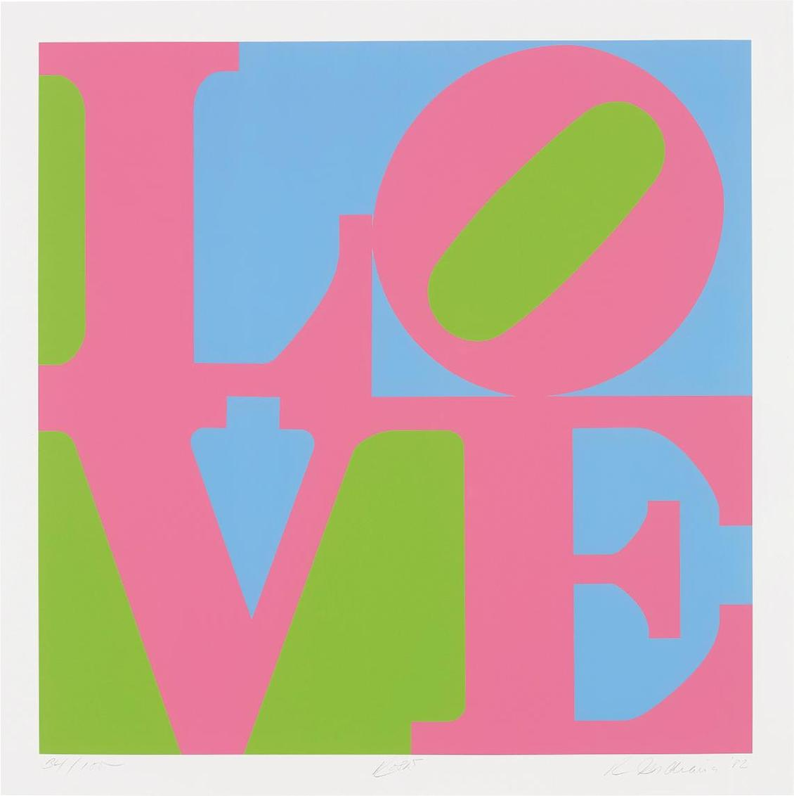 Robert Indiana-Rose, From A Garden Of Love-1982