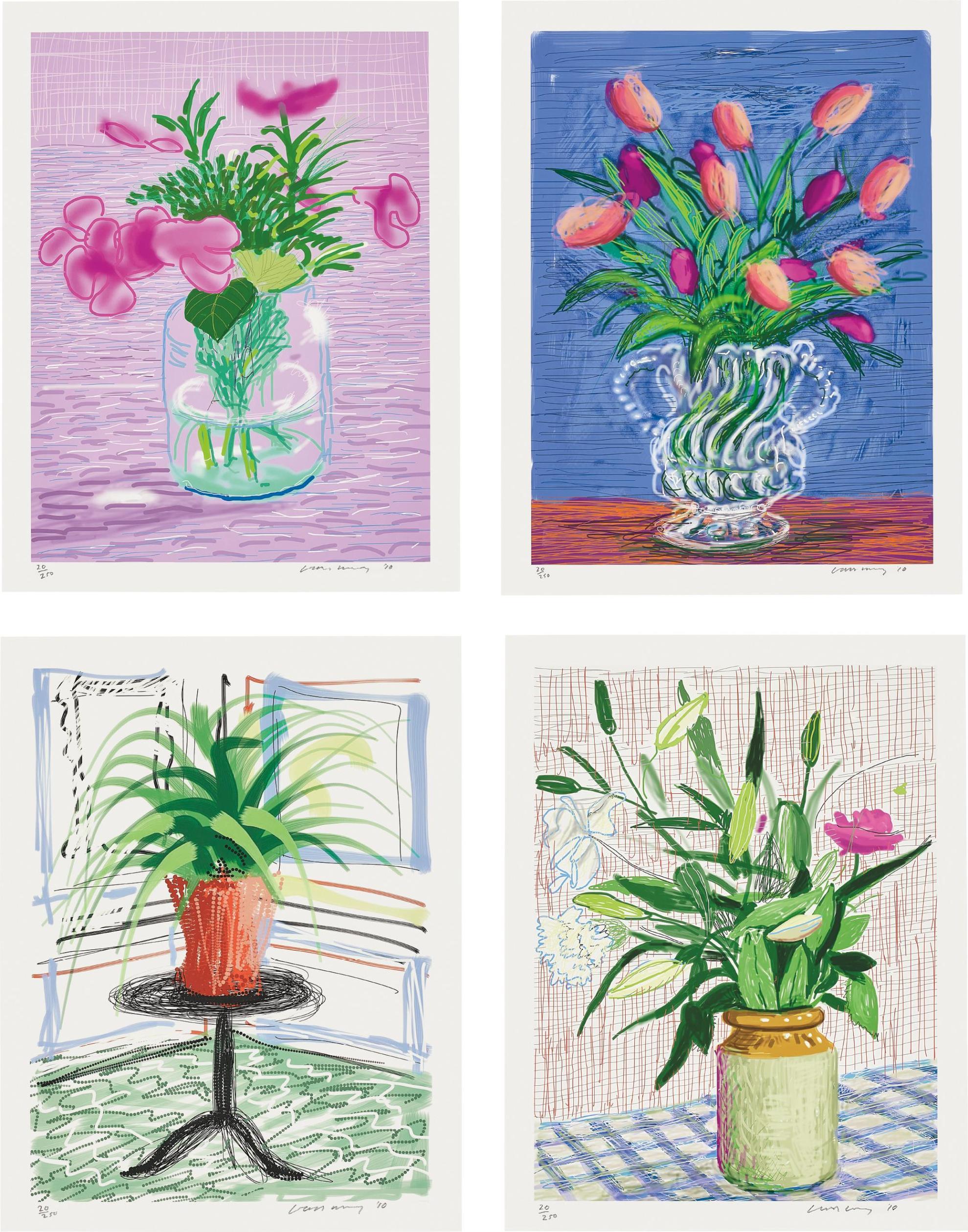 David Hockney-A Bigger Book: Art Editions A, B, C, And D-2016