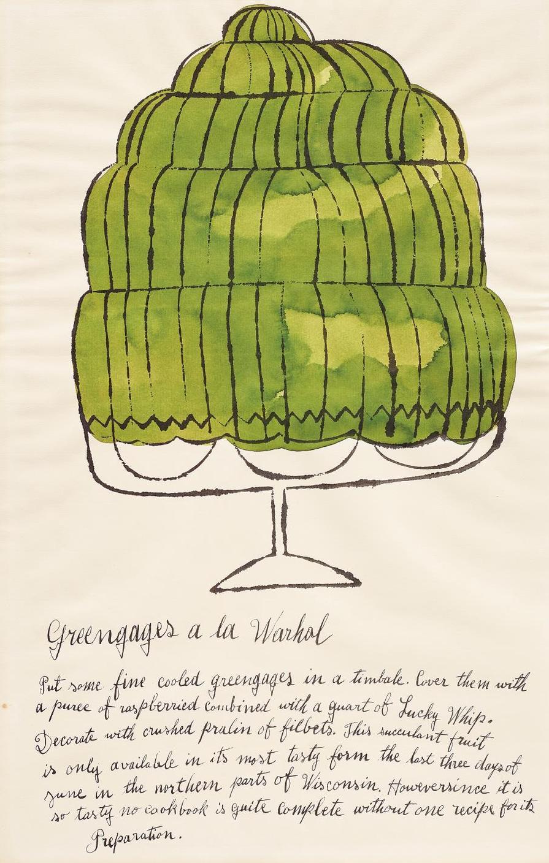 Andy Warhol-Greengages A La Warhol, From Wild Raspberries-1959