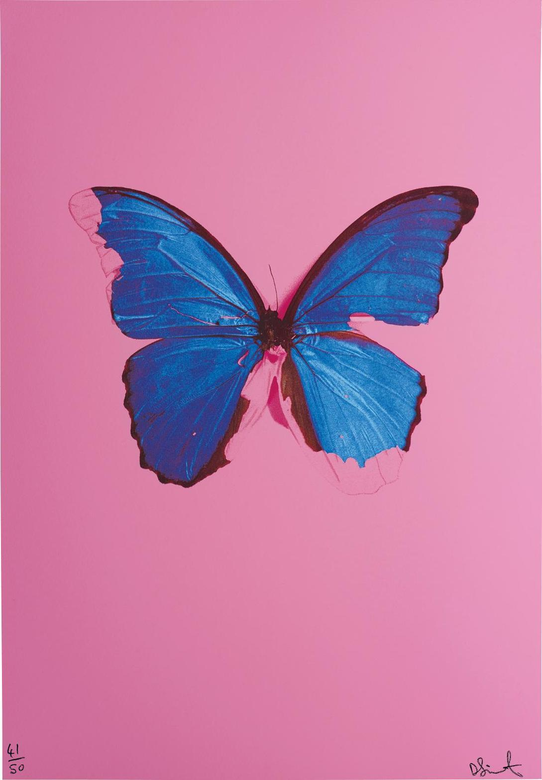 Damien Hirst-Blue Butterfly From, In The Darkest Hour There May Be Light-2006