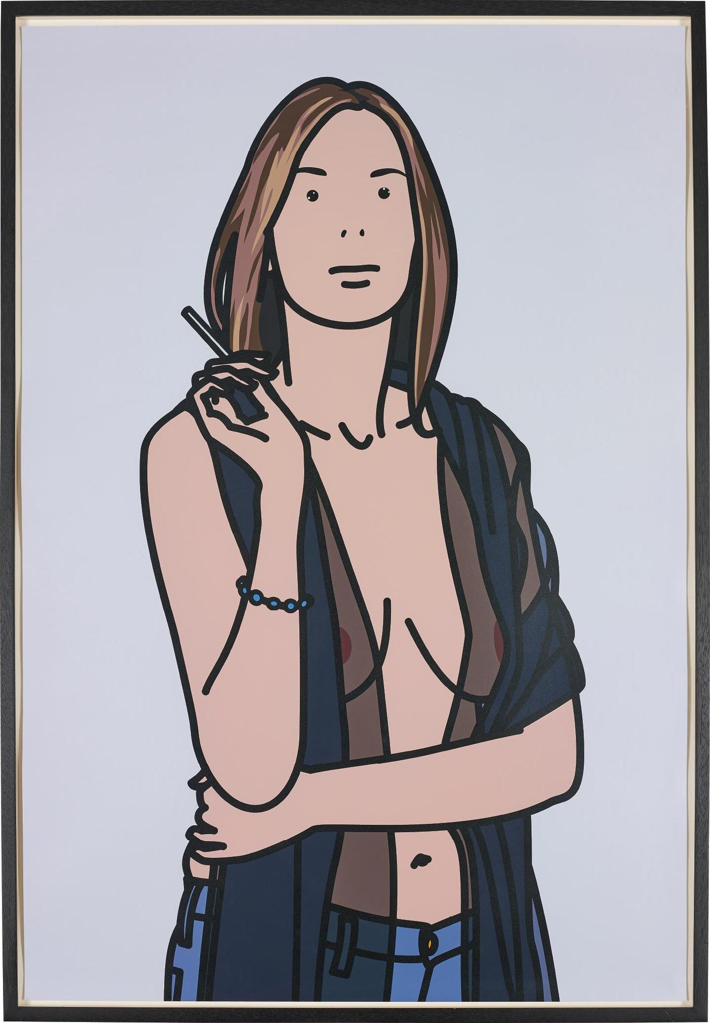 Julian Opie-Ruth Smoking 5-2006