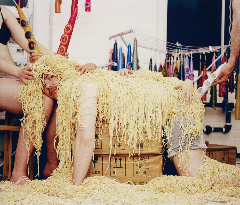 Olaf Breuning-Spaghettisheep-2005
