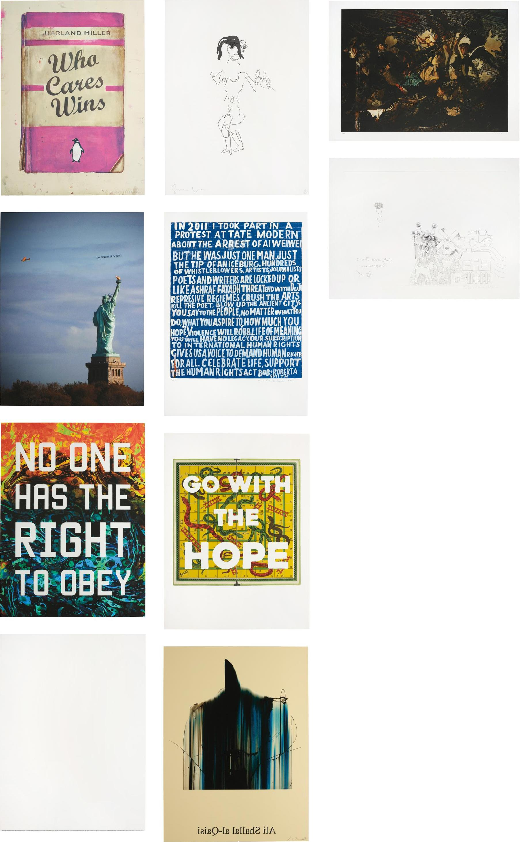 Various Artists Including Harland Miller Jake And Dinos Chapman And Mat Collishaw - Artists With Liberty: Save Our Human Rights Act-2016