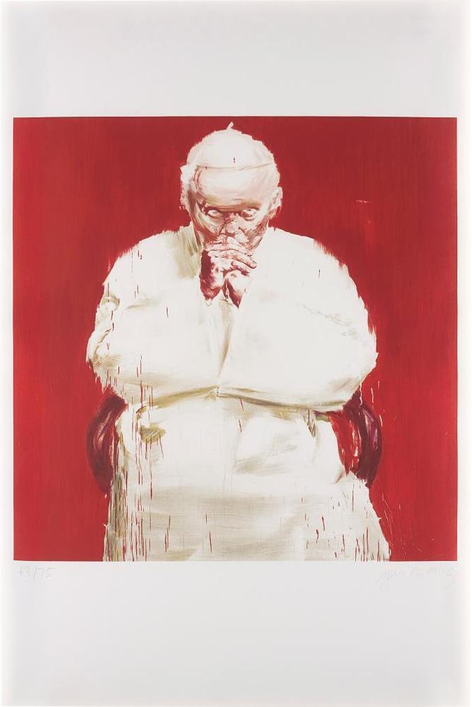 Yan Pei-Ming-Pope Jean-Paul Ii, From Icones-2005