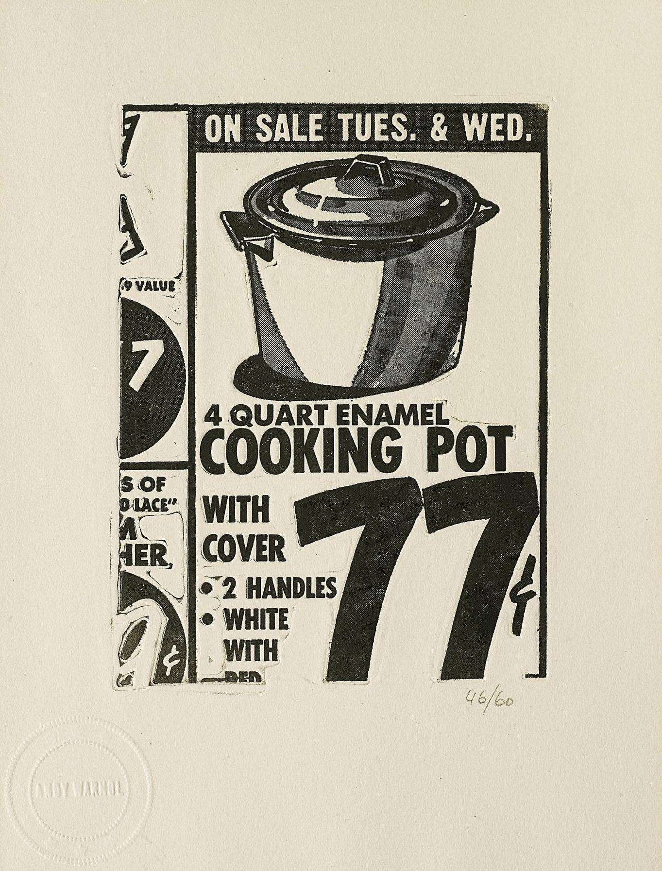 Andy Warhol-Cooking Pot, From International Anthology Of Contemporary Engraving: The International Avant-Garde, Vol. 5, America Discovered-1962