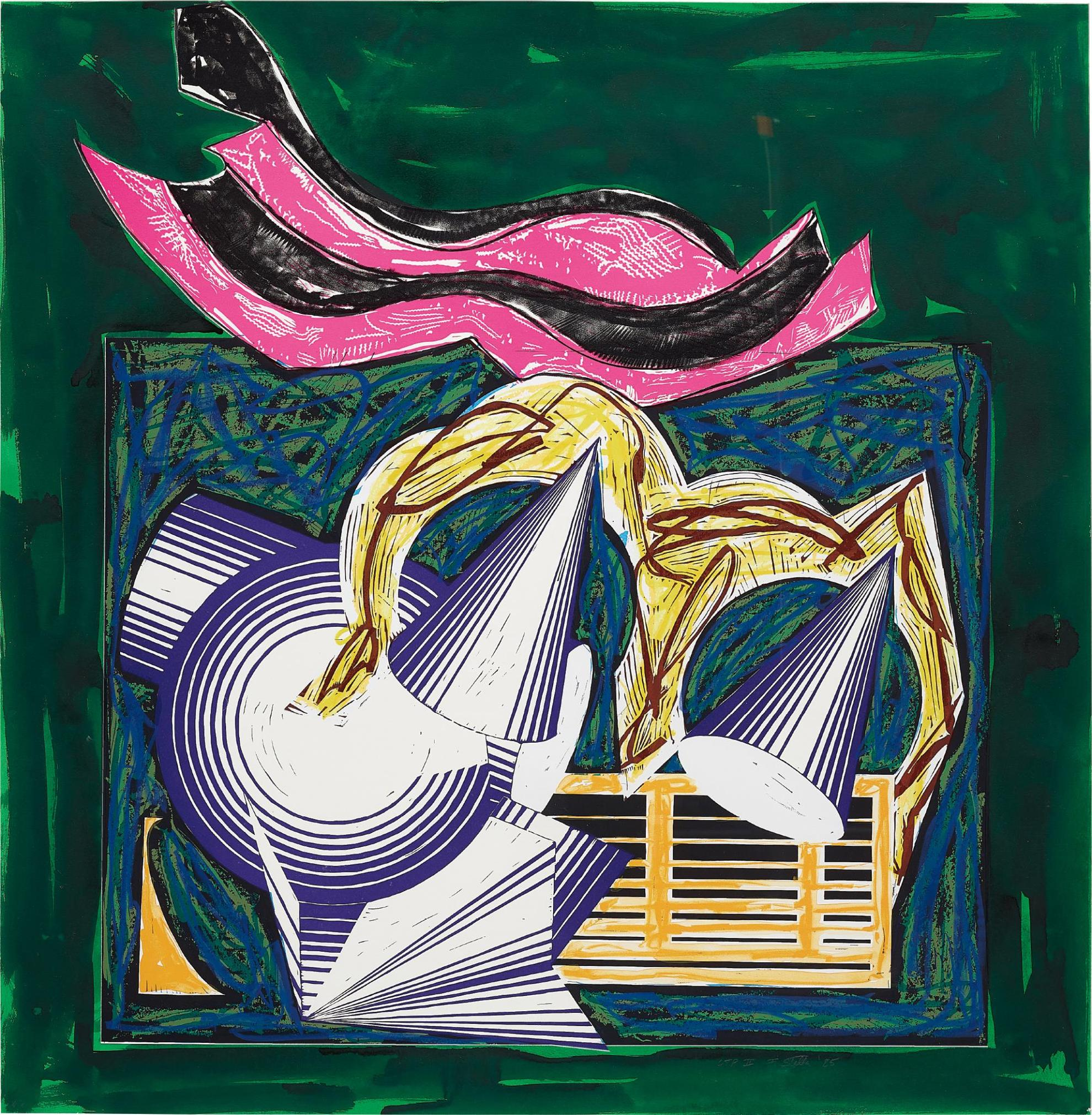 Frank Stella-One Small Goat Papa Bought For Two Zuzim, Pl.1, From Illustrations After El Lissitzkys Had Gadya-1984