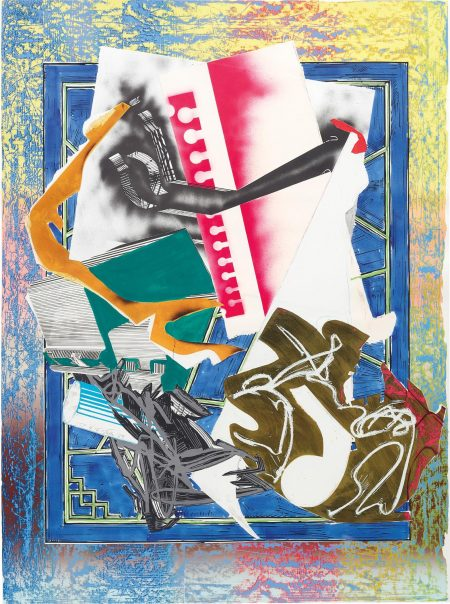 Frank Stella-Going Abroad, From Waves II-1989
