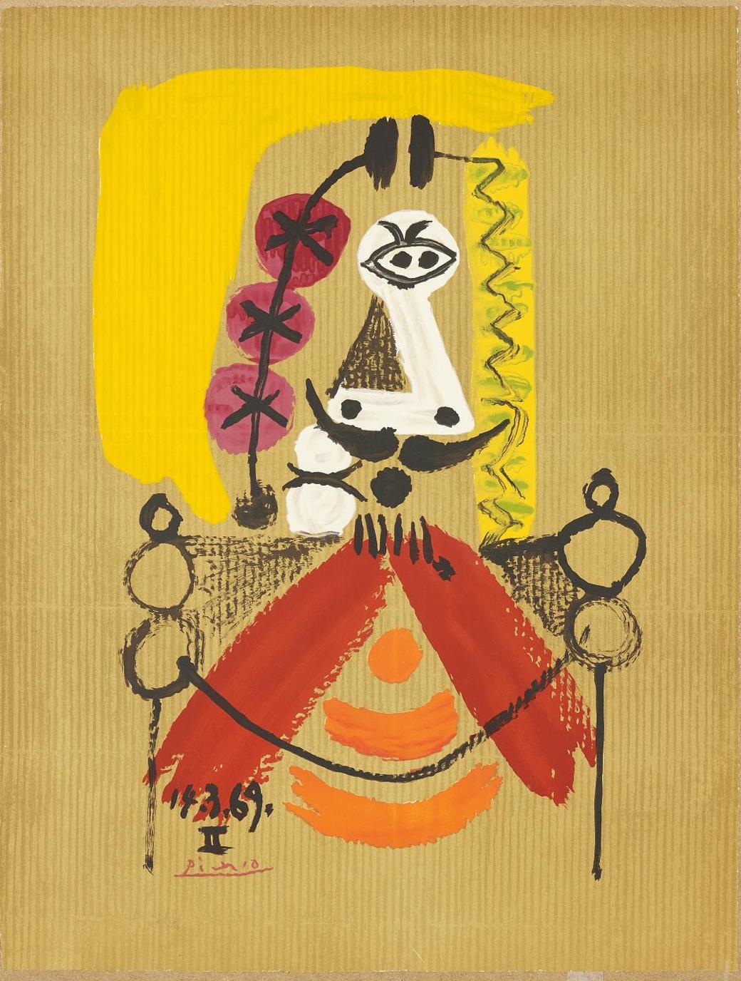 After Pablo Picasso - Portrait Imaginaire (Imaginary Portrait): One Plate-1969
