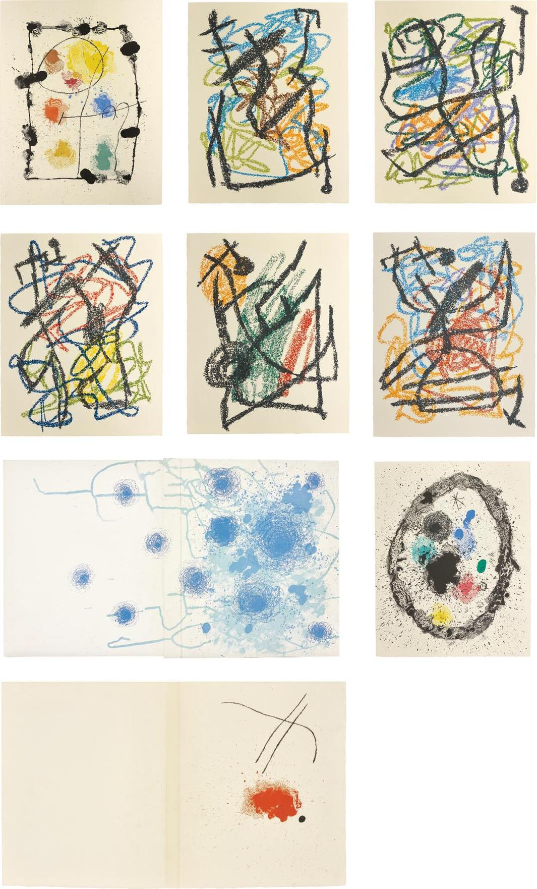 Joan Miro-Je Travaille Comme Un Jardinier (I Work As A Gardener)-1963