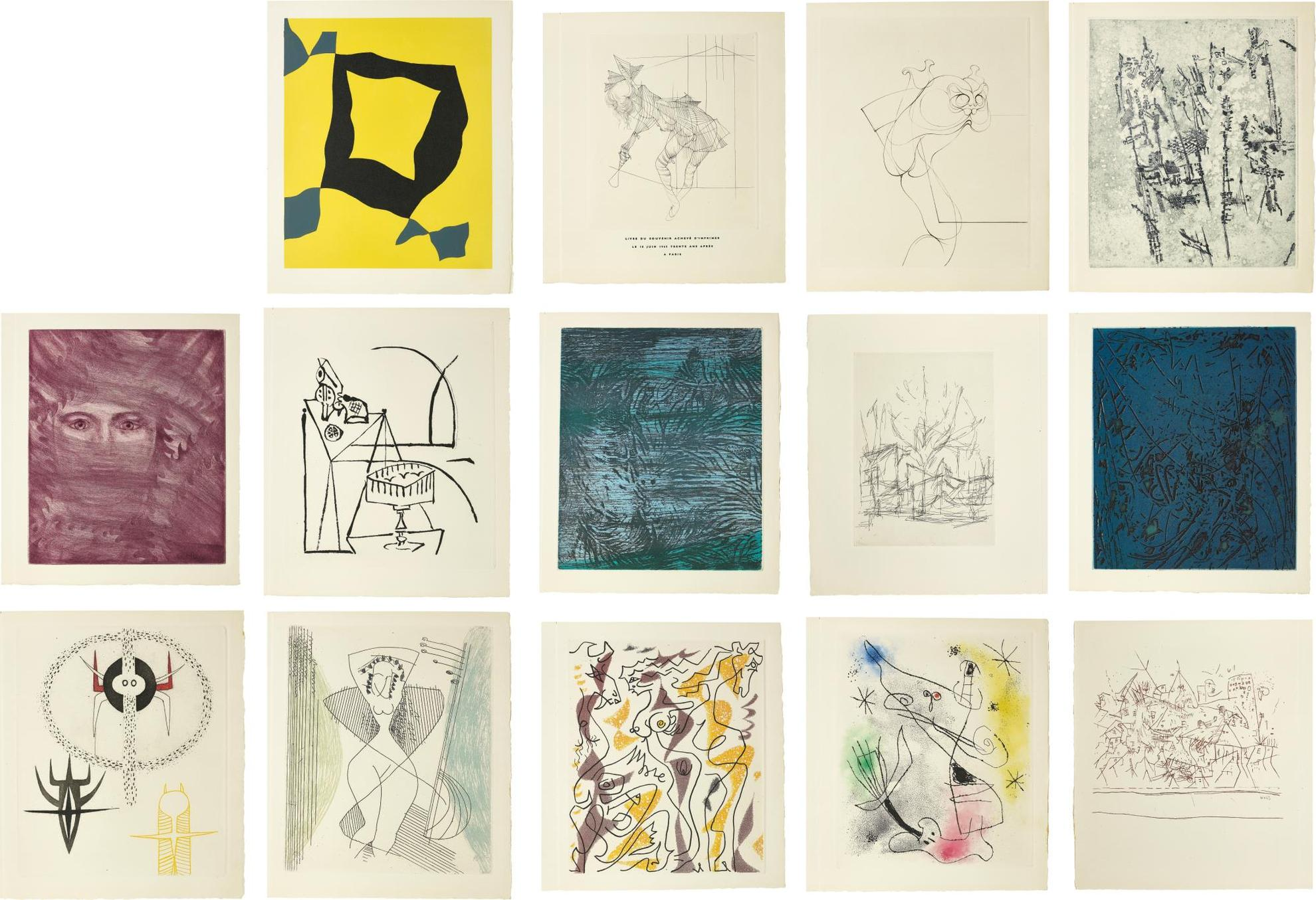 Various Artists Including Joan Miro Alberto Giacometti And Man Ray - Rene Crevel: Feuilles Eparses (Scattered Leaves)-1965