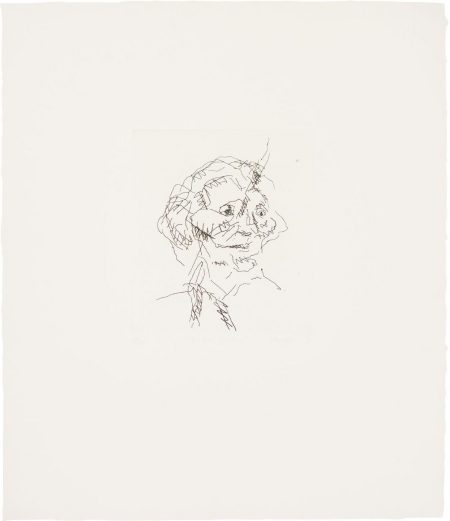 Frank Auerbach-Gerda Boehm, From Six Etchings Of Heads-1981