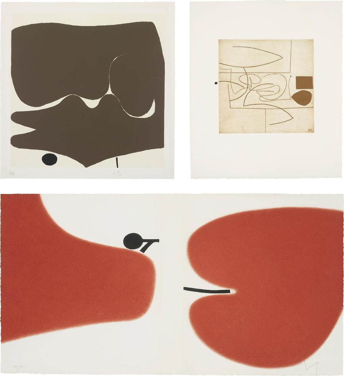 Victor Pasmore-Transformation 3; Linear Motif In Three Movements; And Untitled-1979