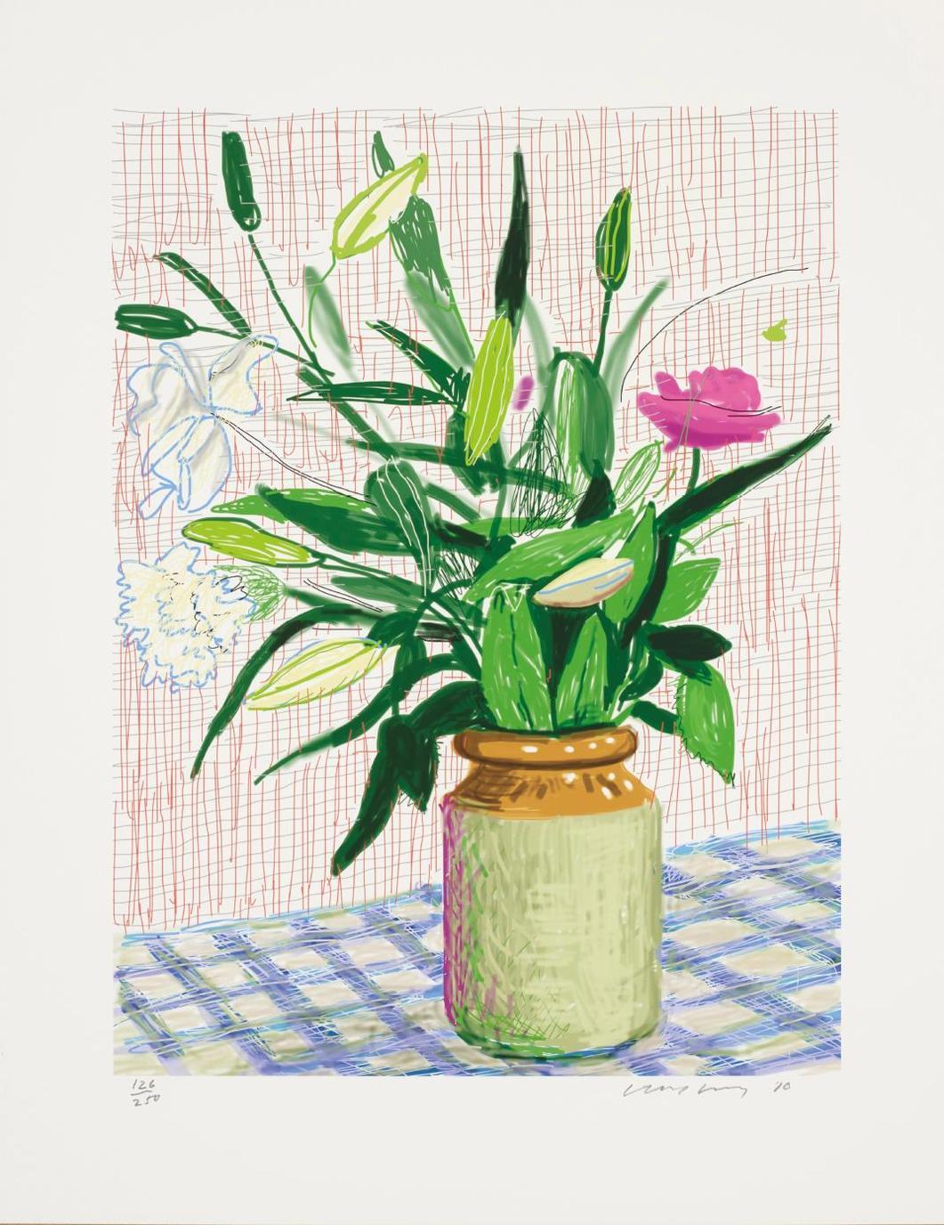 David Hockney-Untitled No. 516, From A Bigger Book: Art Edition D-2016