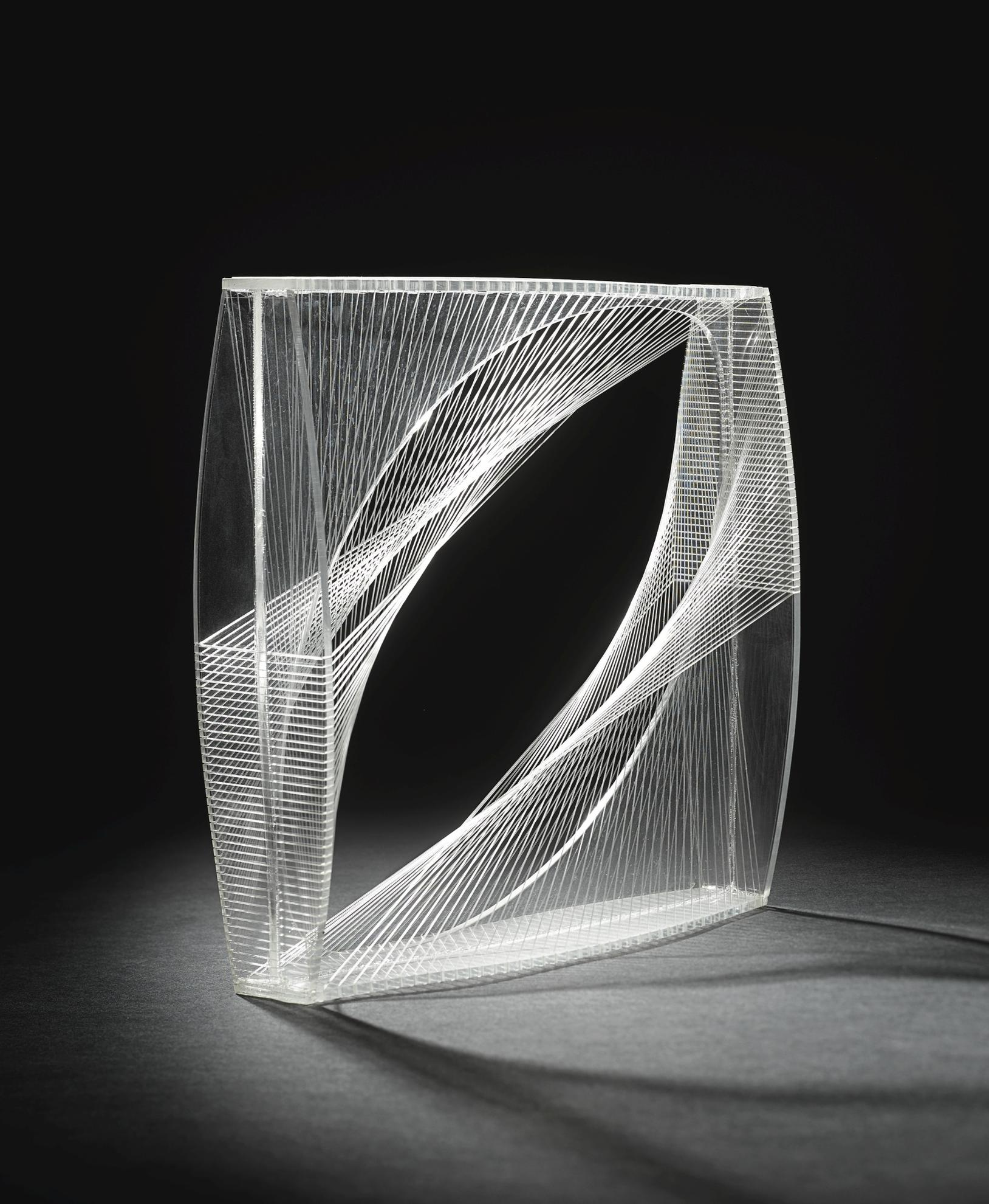 Naum Gabo-Linear Construction In Space No.1-1950