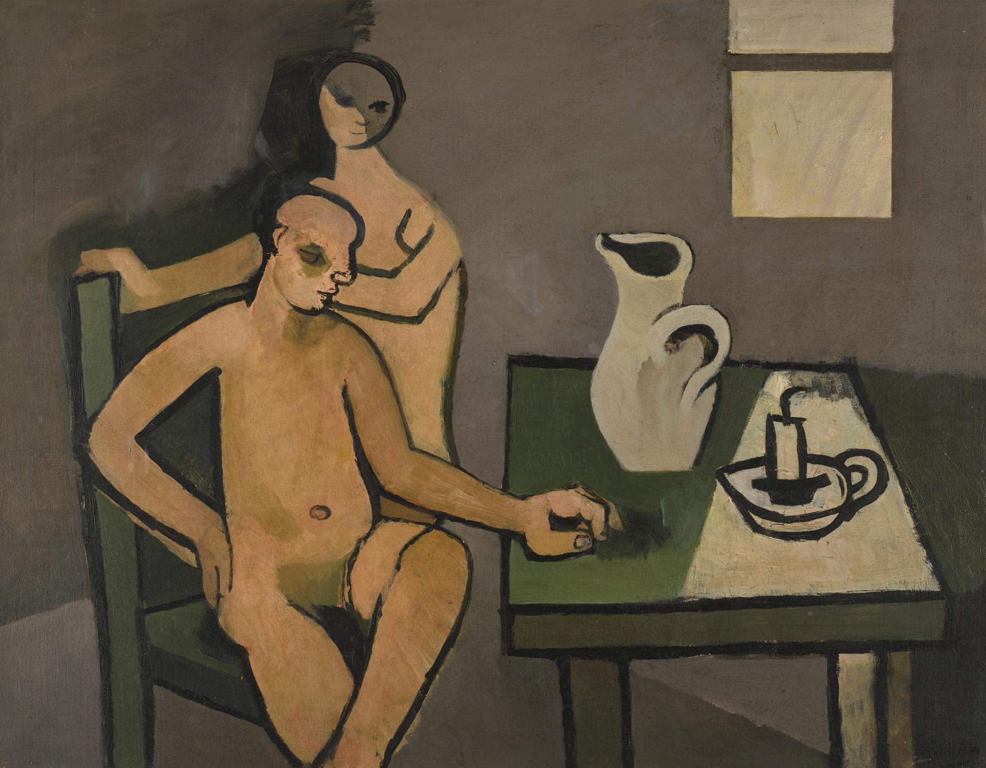 Keith Vaughan-Interior With Nude Figures-1949
