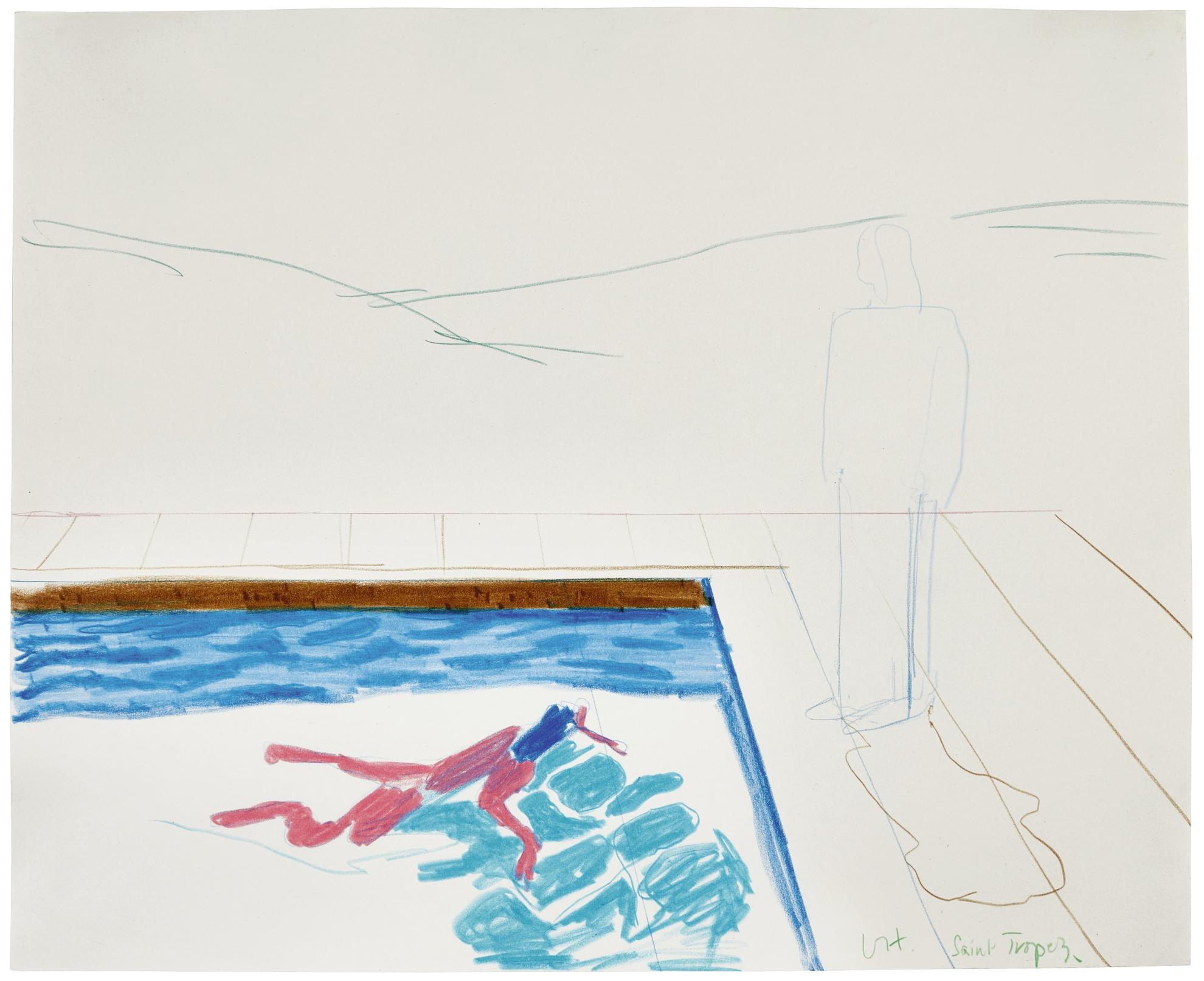 David Hockney-Study For Portrait Of An Artist (Pool With Two Figures)-1972