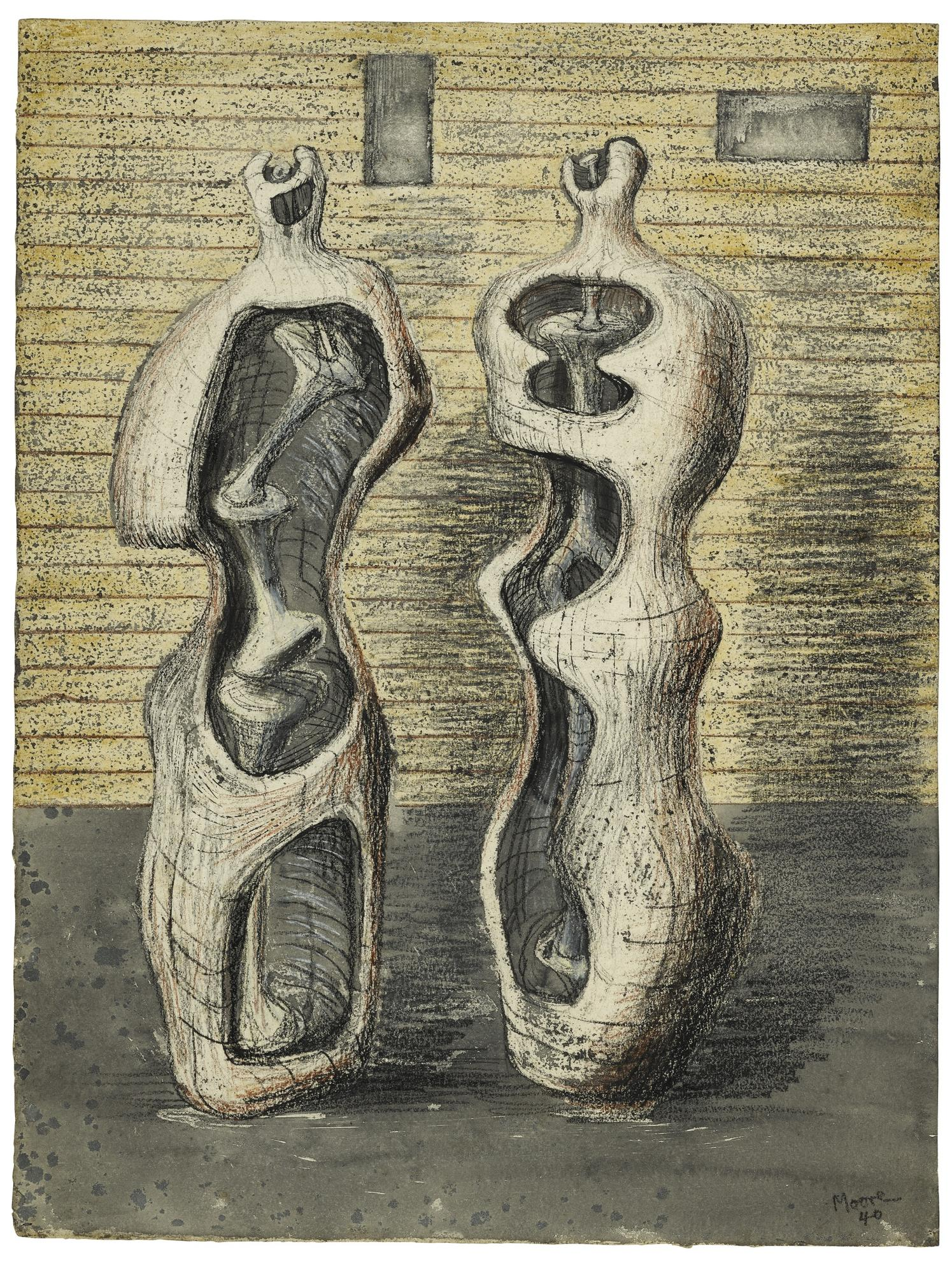 Henry Moore-Two Standing Figures-1940