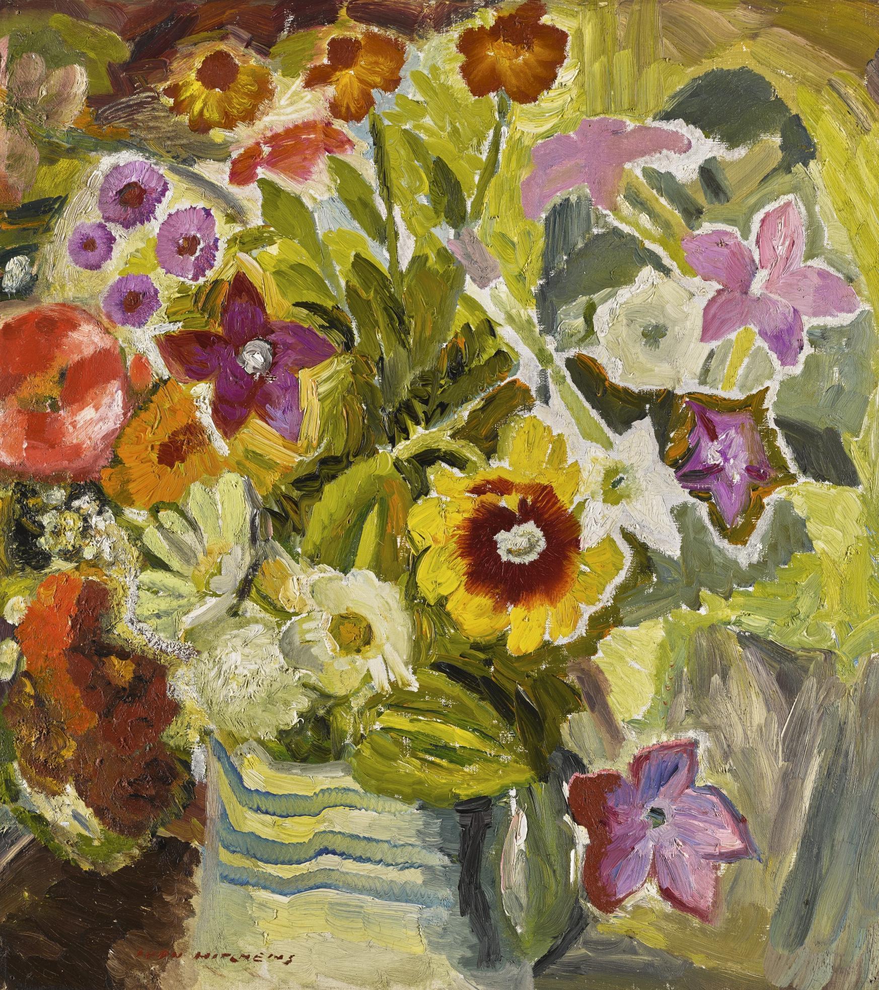 Ivon Hitchens-Autumn Flowers No. 1-1932