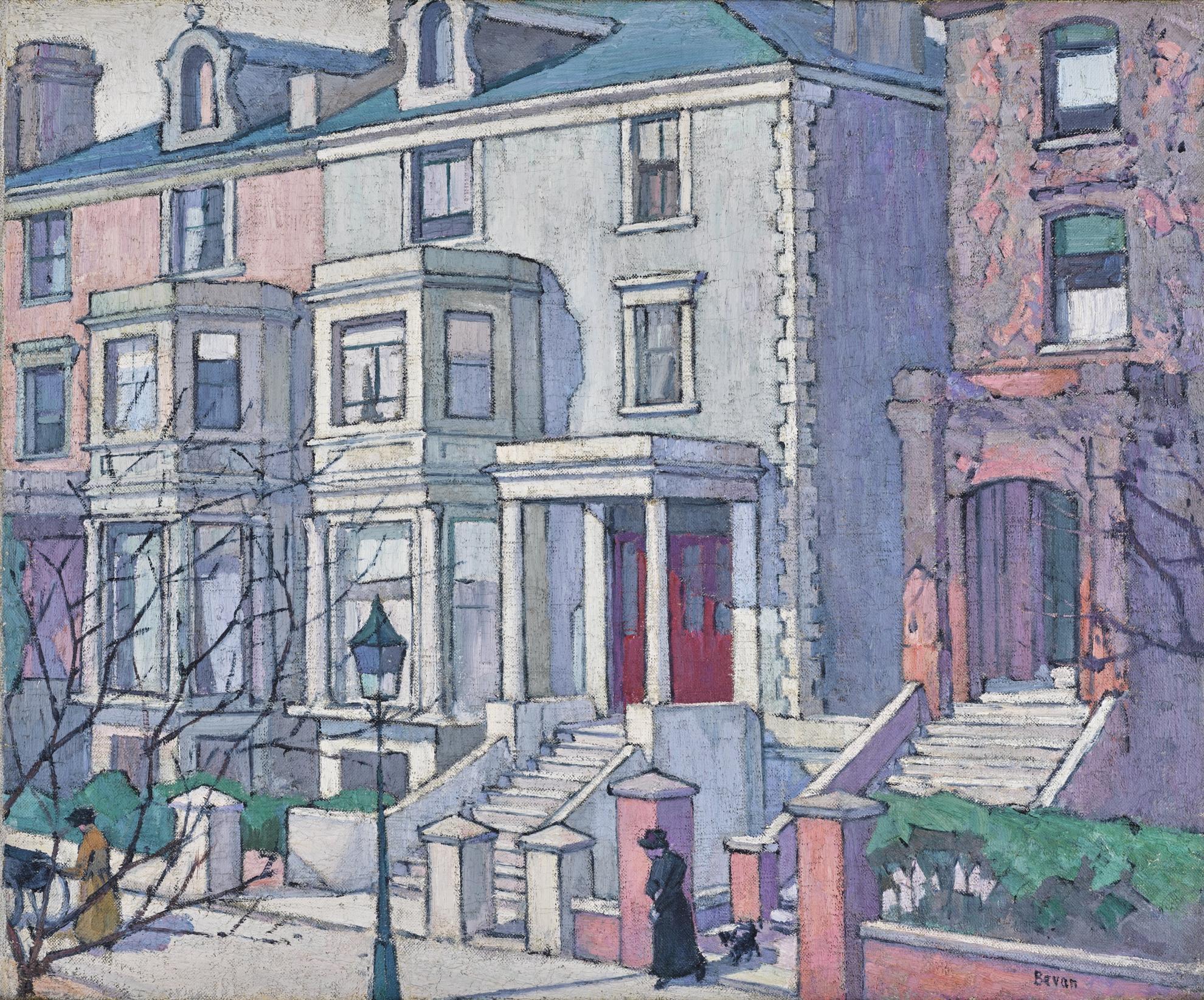 Robert Polhill Bevan - Houses In Sunlight-1915