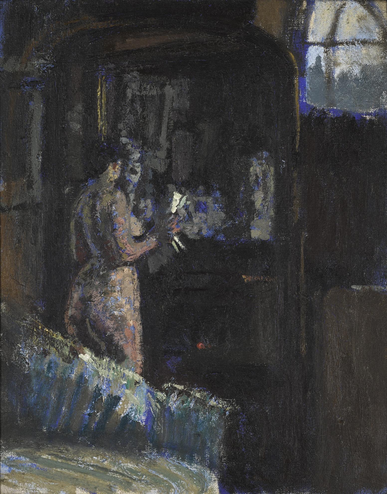 Walter Richard Sickert-Nude Before A Mirror, Fitzroy Street-1906