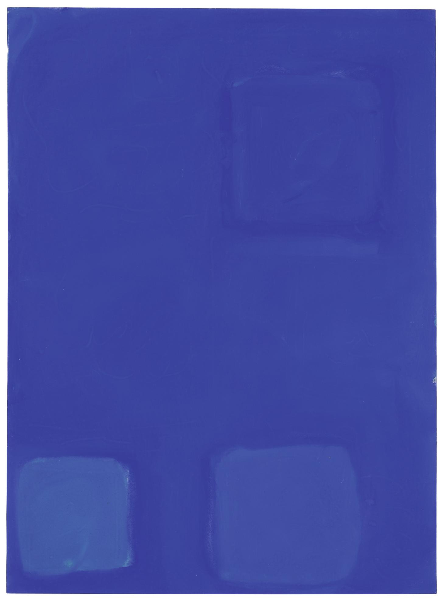 Patrick Heron-Three Blues In Blue: January 19 1961-1961