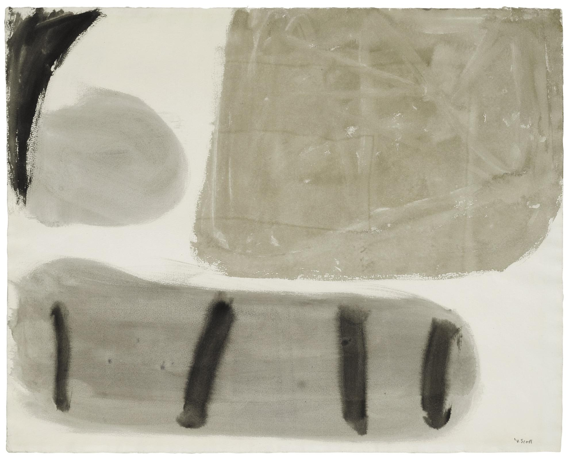 William Scott-White, Umber And Grey-1962