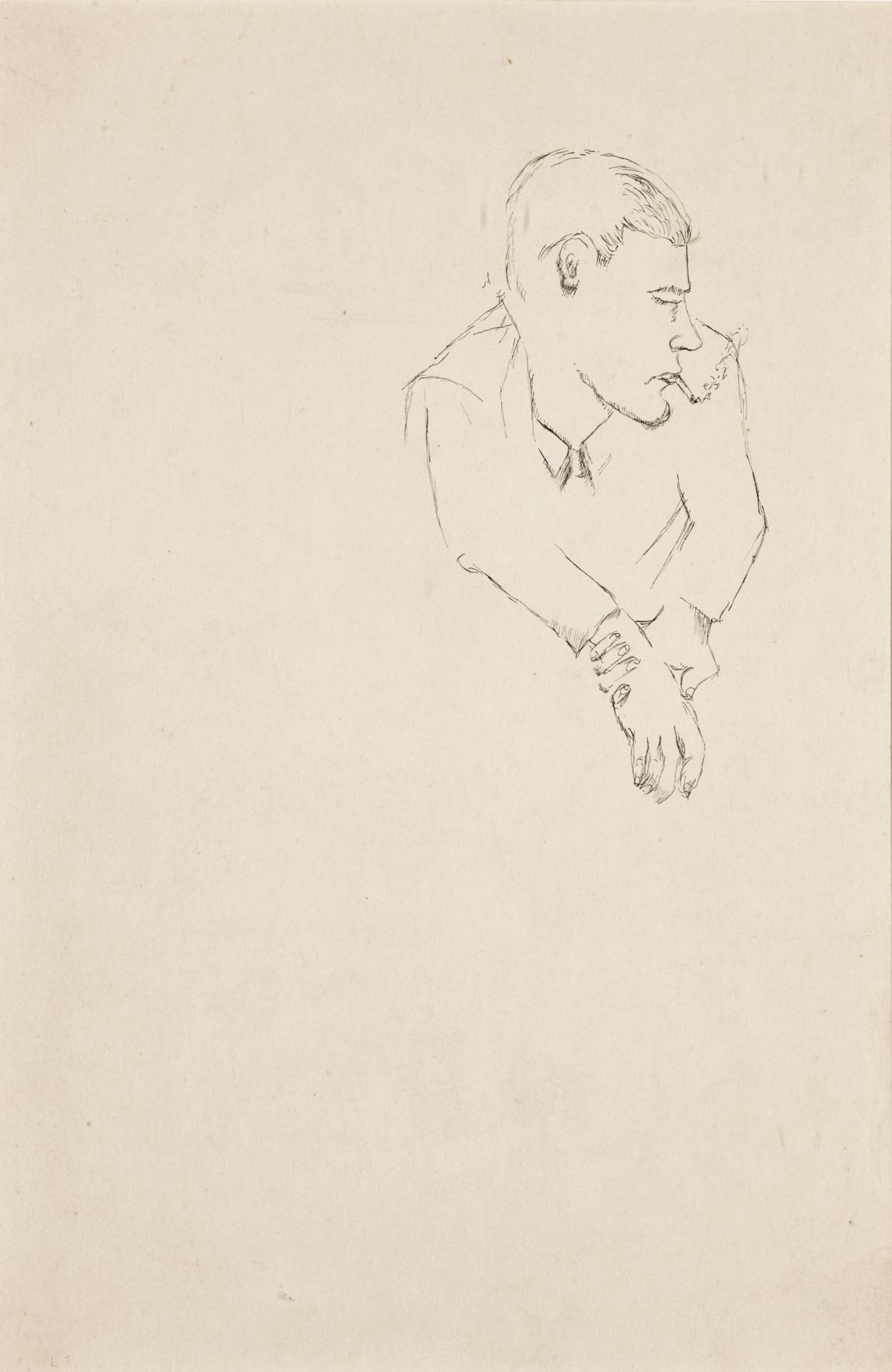 Lucian Freud-Boy Clasping His Wrist-1941