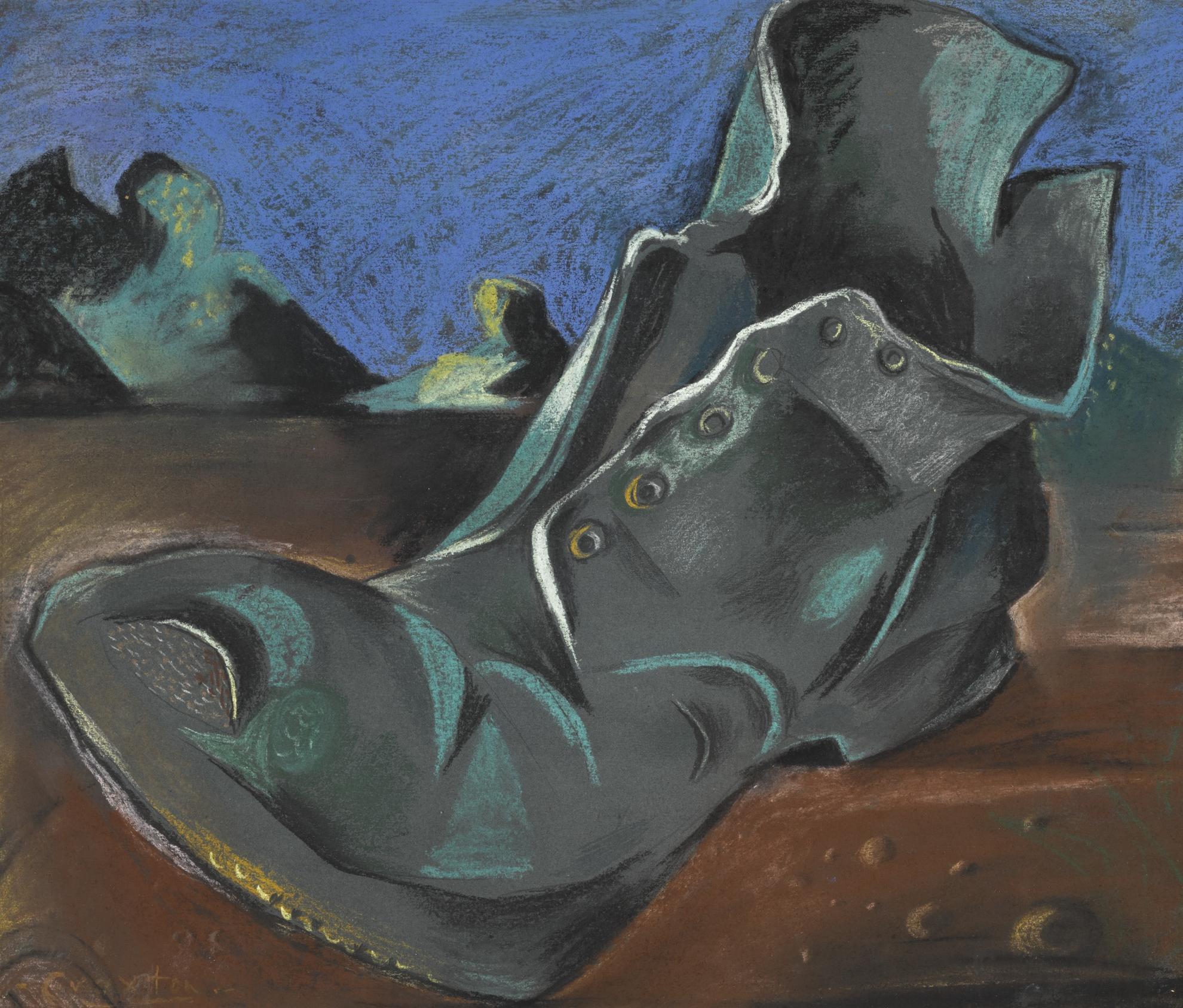 John Craxton-Boot In An Estuary-1944
