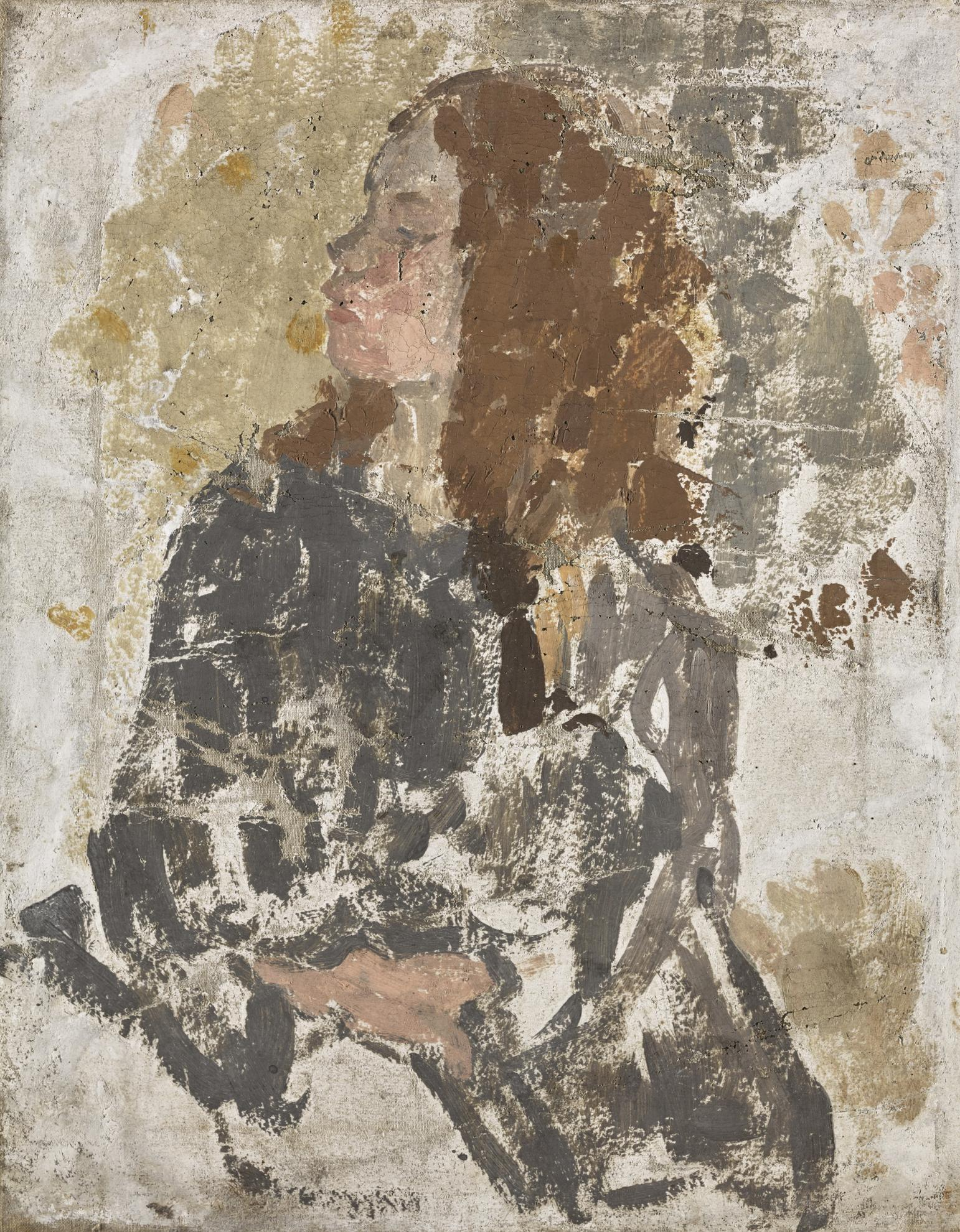 Gwen John-Unfinished Study Of A Girl In Profile-1910
