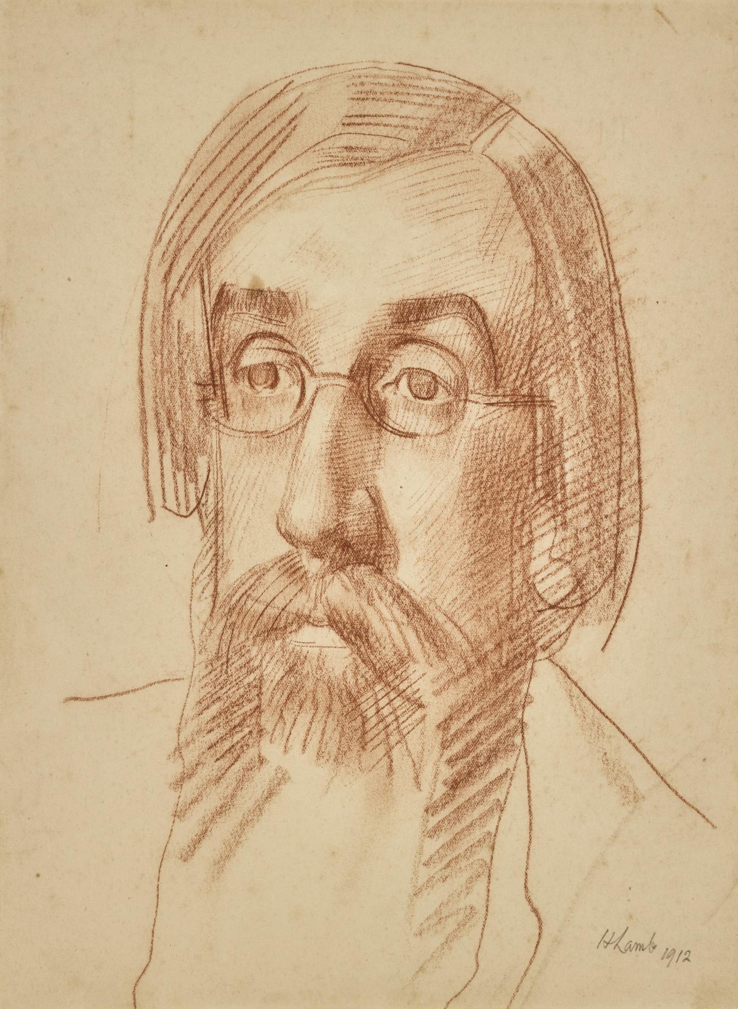 Henry Lamb-Portrait Of Lytton Strachey-1912