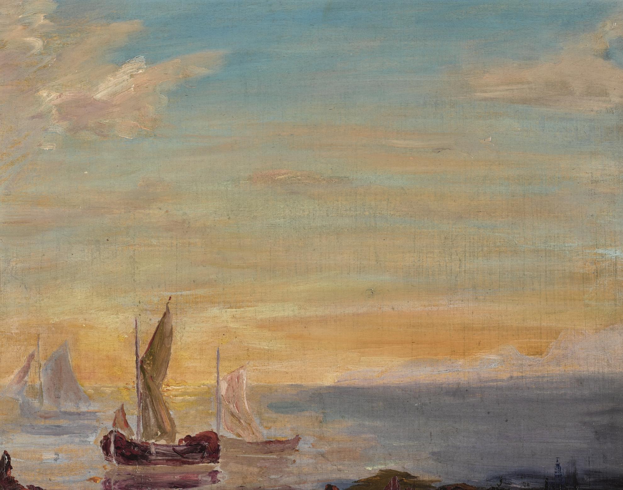 Winston Churchill-Study Of A Seascape-1925