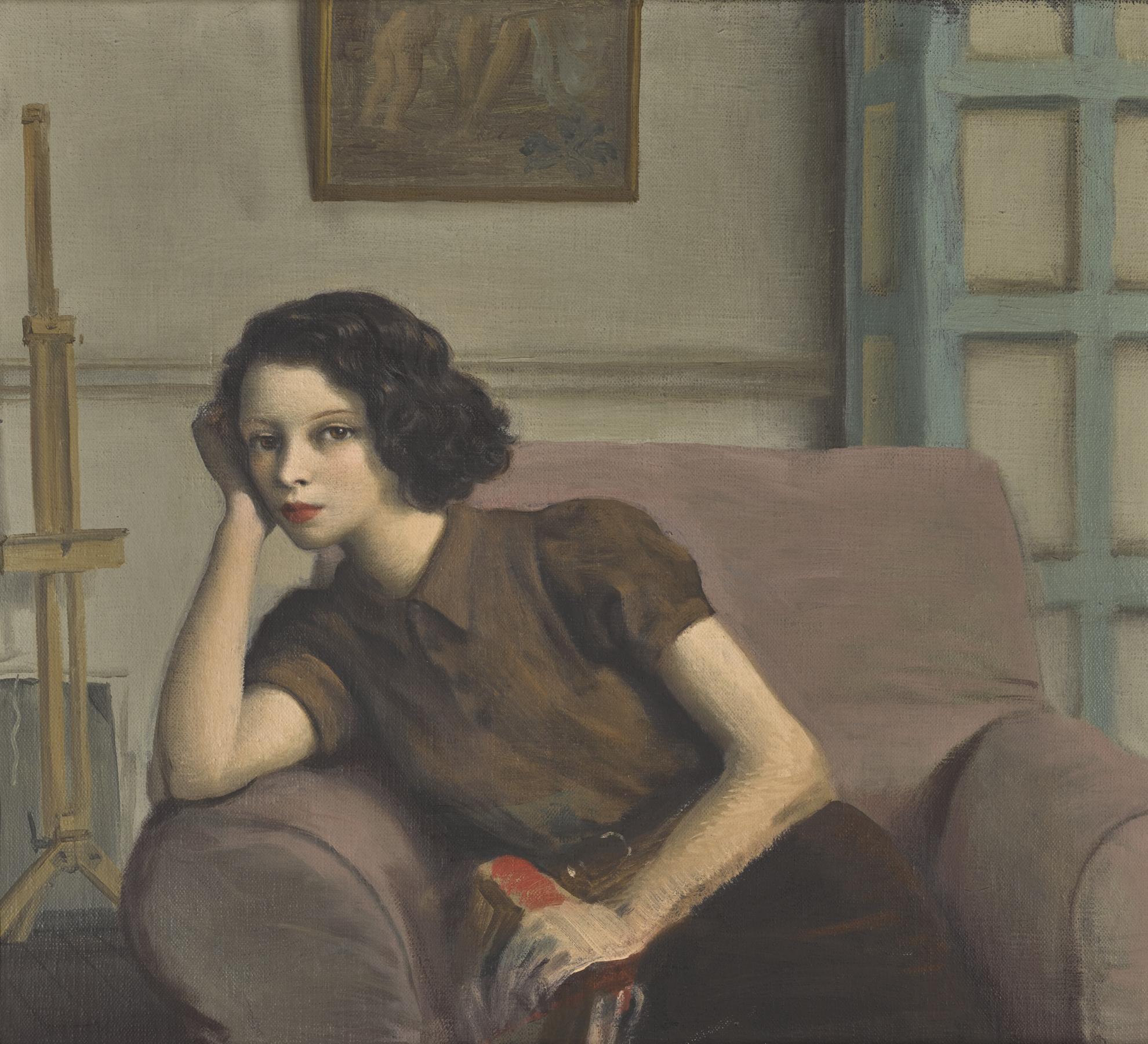 Rex Whistler-Portrait Of Lady Caroline Paget-1930