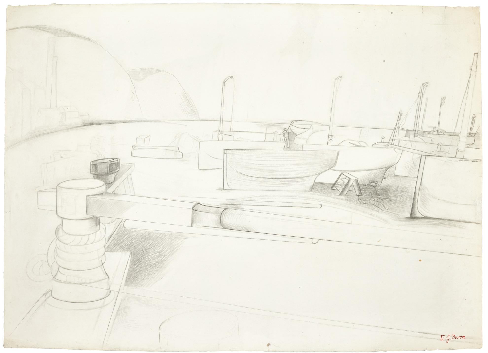 Edward Burra-Harbour Scene-