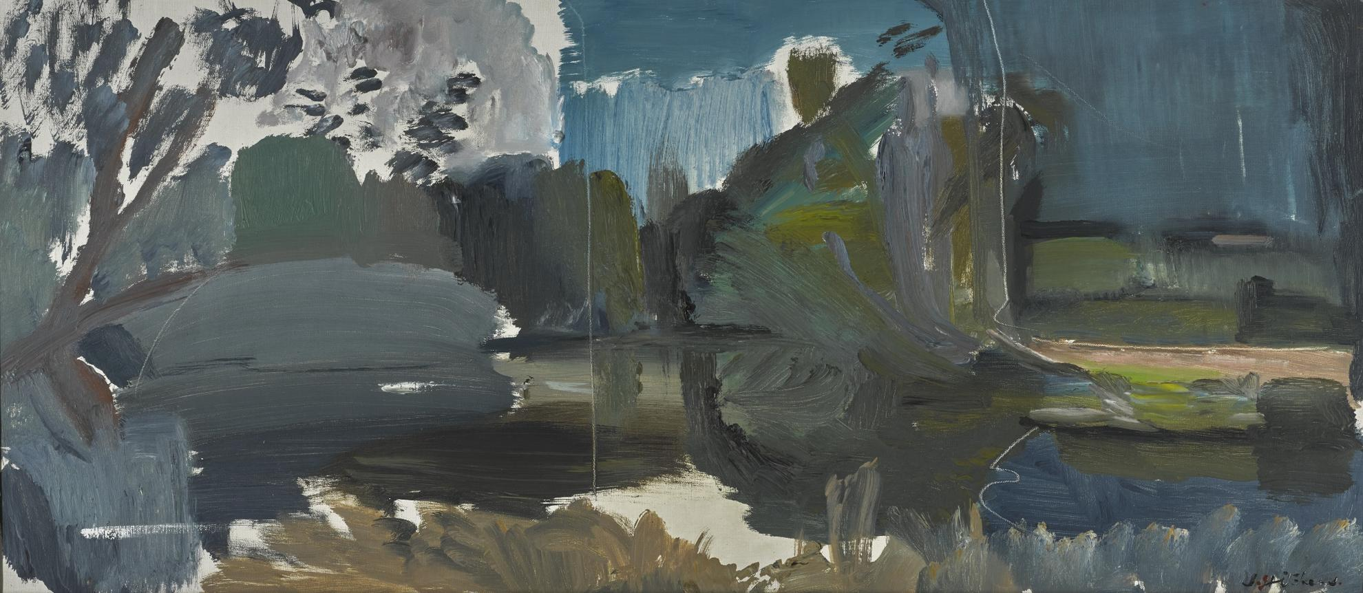 Ivon Hitchens-Spring Mill Pool-1951