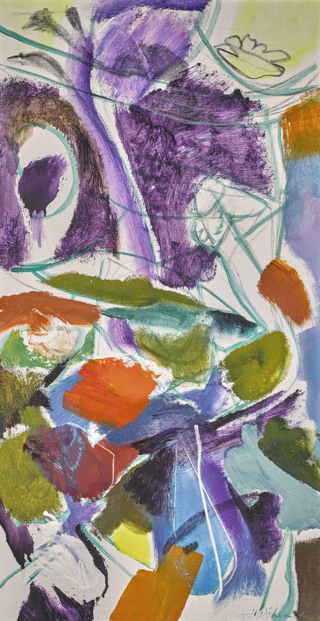 Ivon Hitchens-Flower Movement-1974